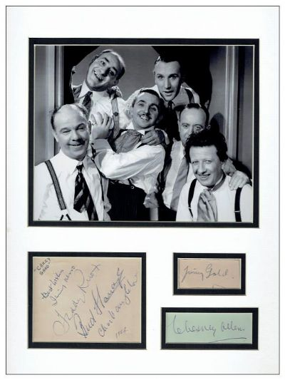 The Crazy Gang Autograph Signed Memorabilia